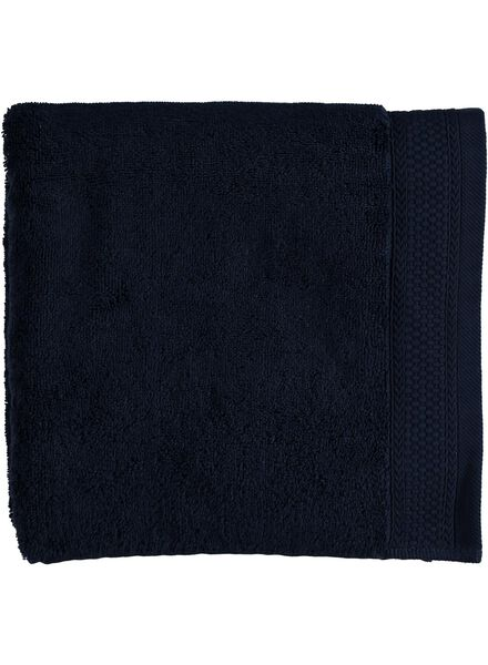 handdoek - 60 x 110 cm - hotel kwaliteit - donkerblauw - 5240031 - HEMA