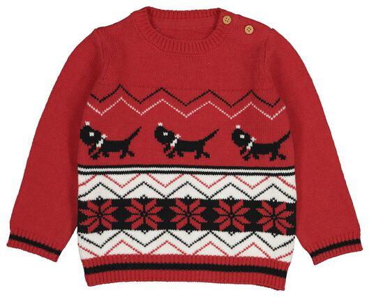 babytrui kerst Takkie rood - 1000021453 - HEMA