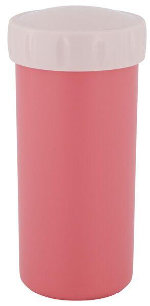 drinkbeker met deksel 300ml roze - 80600112 - HEMA