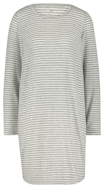damesnachthemd grijsmelange M - 23420962 - HEMA