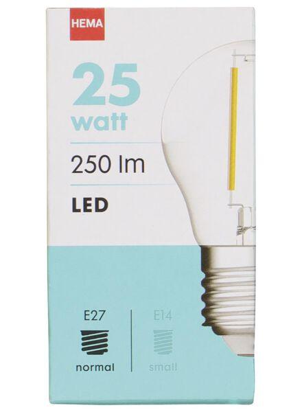 LED lamp 25W - 250 lm - kogel - helder - 20020030 - HEMA