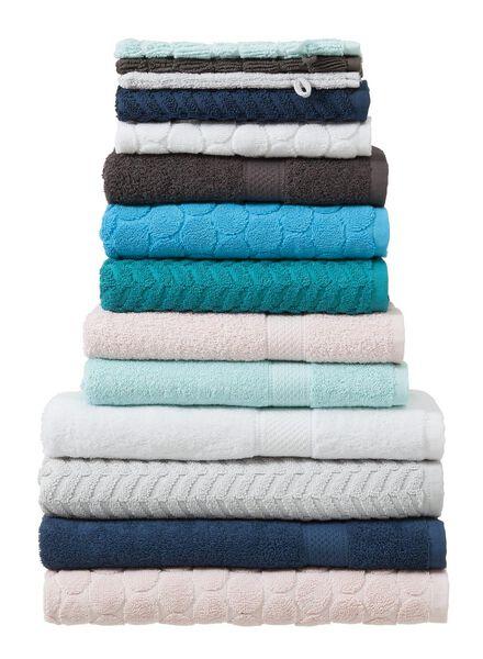 gastendoek - 30 x 55 cm - zware kwaliteit - jeansblauw zigzag donkerblauw gastendoekje - 5200058 - HEMA