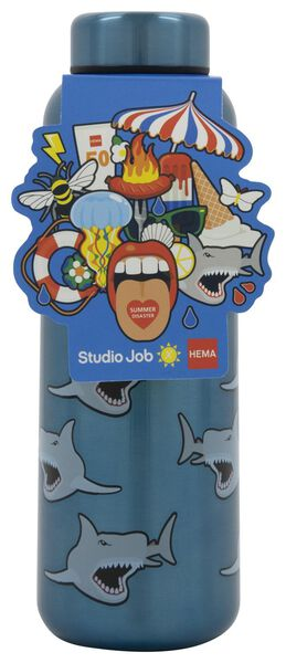 dubbelwandige fles RVS 450 ml - Studio Job - 41590006 - HEMA