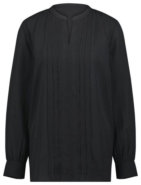 damesblouse zwart XL - 36228379 - HEMA