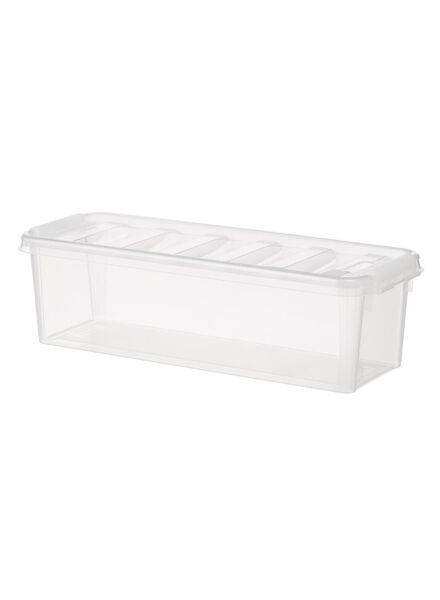 opbergbox 38 x 14 x 11 cm 38 x 14 x 11 transparant - 39820001 - HEMA