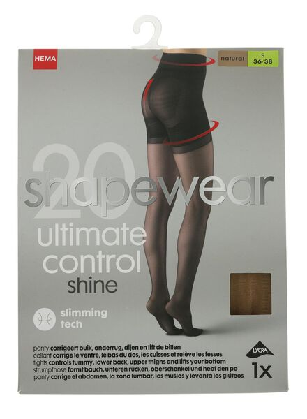 ultimate control panty 20 denier naturel naturel - 1000010536 - HEMA