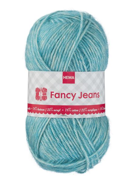 breigaren fancy jeans - turquoise fancy jeans turquoise - 1400163 - HEMA