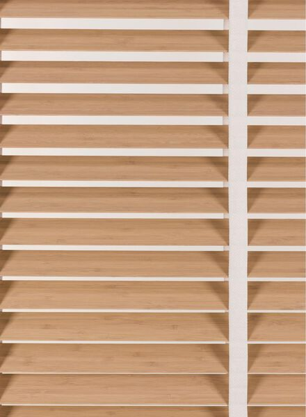 jaloezie hout bamboe 50 mm antraciet antraciet - 1000016183 - HEMA