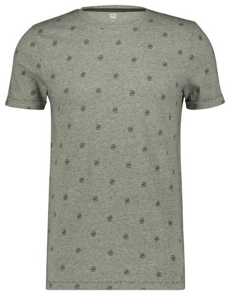 heren t-shirt legergroen XL - 34297586 - HEMA