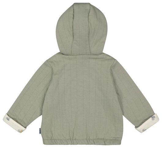 newborn jas padded groen 68 - 33410514 - HEMA