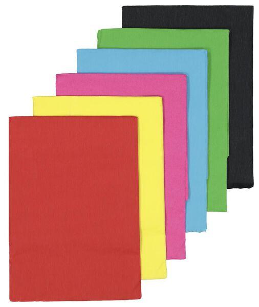 crêpepapier pakket 6 kleuren 250x50 - 15910153 - HEMA