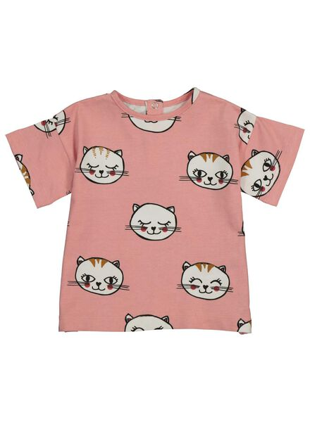 baby t-shirt roze roze - 1000014257 - HEMA