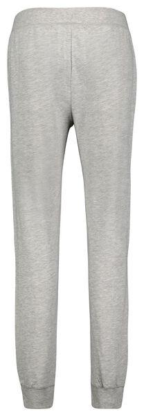 dames pyjamabroek katoen sweat grijsmelange XL - 23422234 - HEMA