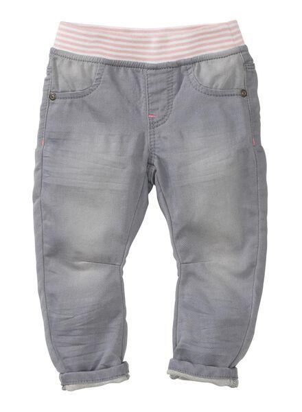 baby denim broek grijs grijs - 1000003687 - HEMA