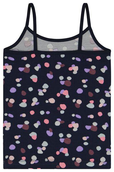 kinderhemden stip/streep - 2 stuks donkerblauw donkerblauw - 1000025318 - HEMA
