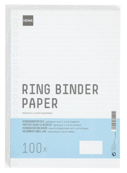 ringbandpapier 23-rings - 14132003 - HEMA