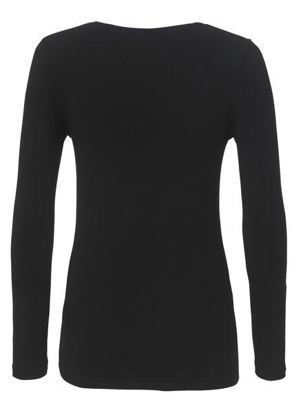dames t-shirt biologisch katoen zwart L - 36347225 - HEMA