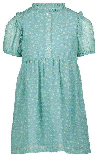 kinderjurk bloem blauw - 1000023243 - HEMA