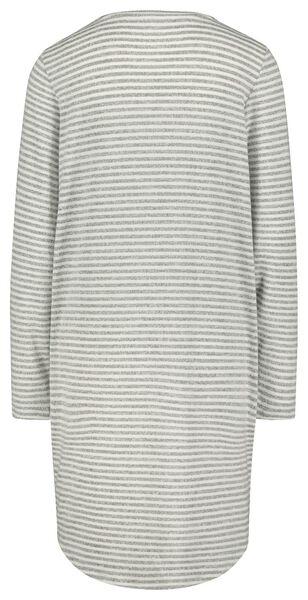 damesnachthemd grijsmelange XL - 23420964 - HEMA