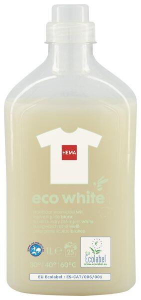 eco vloeibaar wasmiddel wit 1L - 20510047 - HEMA
