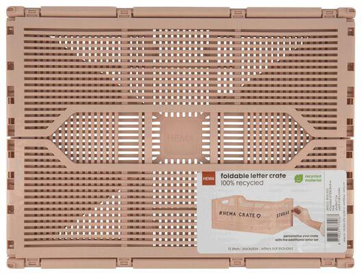klapkrat letterbord recycled 30x40x17 - roze - 39821023 - HEMA