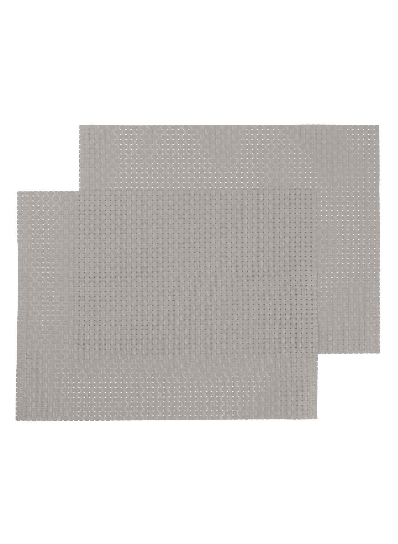 HEMA Placemats - 32 X 42 - Kunststof - Lichtgrijs - 2 Stuks (lichtgrijs)