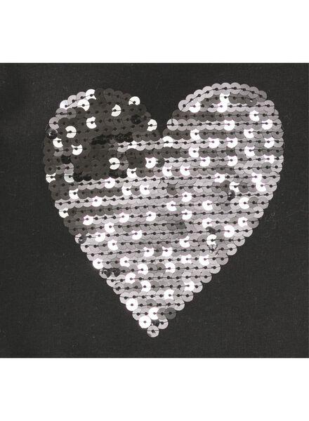 kinder t-shirt zwart zwart - 1000006231 - HEMA