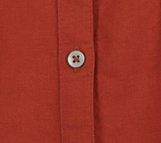 damesblouse met linnen bruin M - 36282040 - HEMA