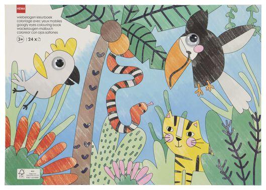 kleurboek wiebelogen dieren - 15920158 - HEMA