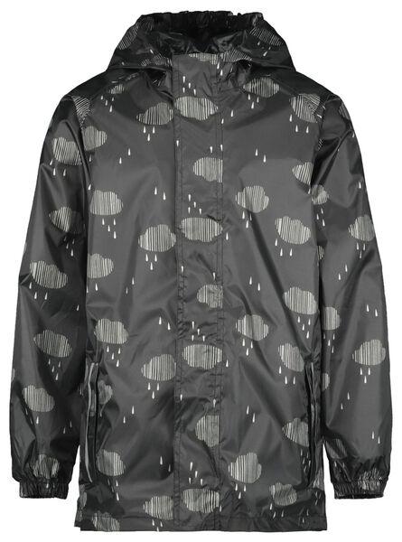 opvouwbare kinder regenjas wolk zwart zwart - 1000022428 - HEMA