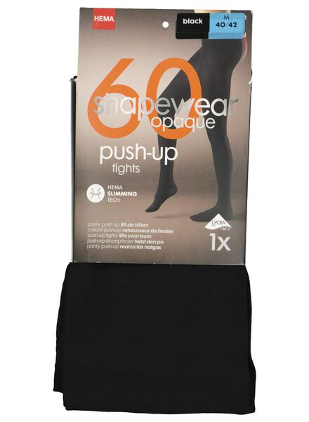 panty push-up 60denier zwart zwart - 1000001215 - HEMA