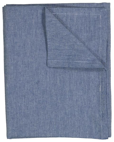 tafelkleed - 140 x 240 - chambray katoen - blauw - 5300049 - HEMA