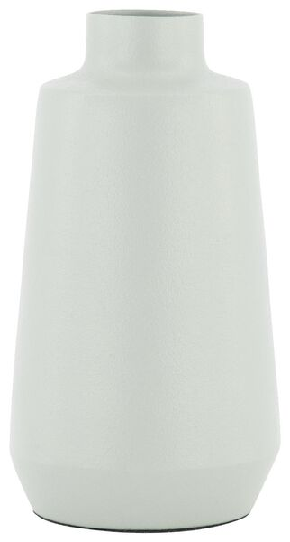 vaasje - 6 cm x Ø 11.5 cm - blauw metaal - 13321010 - HEMA