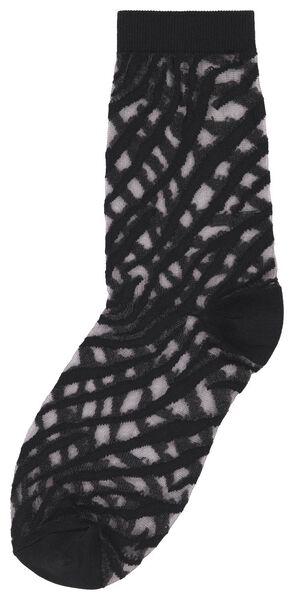damessokken zebra zwart 35/38 - 4250186 - HEMA