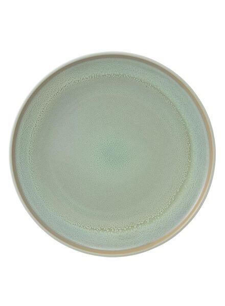 dinerbord 26, 5 cm - reactief glazuur - licht groen - 9670215 - HEMA