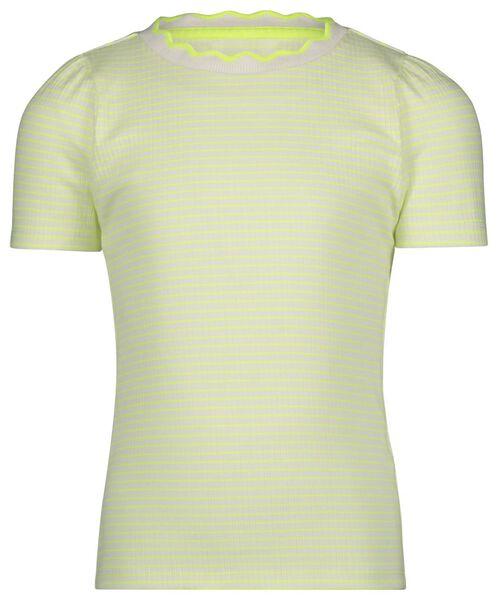 kinder t-shirt rib strepen geel geel - 1000022653 - HEMA