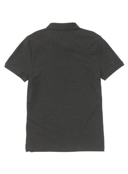 herenpolo grijsmelange grijsmelange - 1000009011 - HEMA