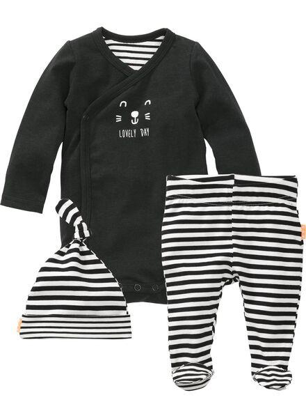 newborn set zwart zwart - 1000006796 - HEMA