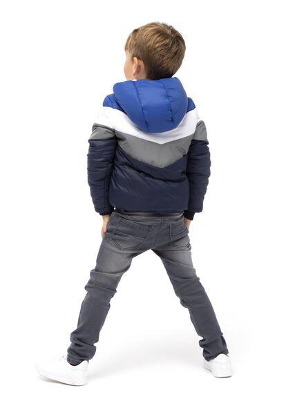 kinderjas met capuchon donkerblauw donkerblauw - 1000015024 - HEMA