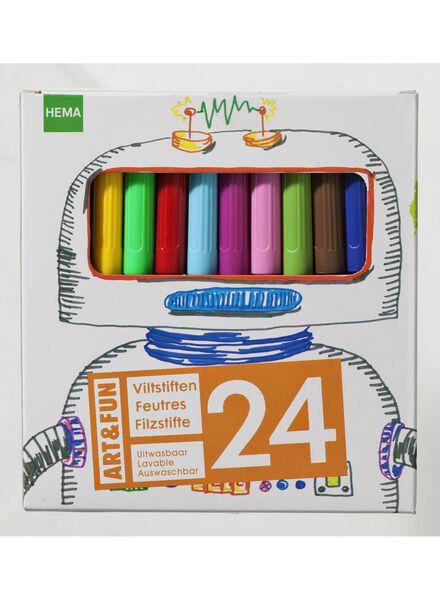 viltstiften doos 24 stuks - 15905023 - HEMA