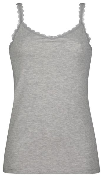 dameshemd kant grijsmelange S - 19661042 - HEMA