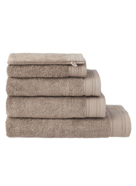 handdoeken - hotel extra zwaar taupe taupe - 1000015159 - HEMA