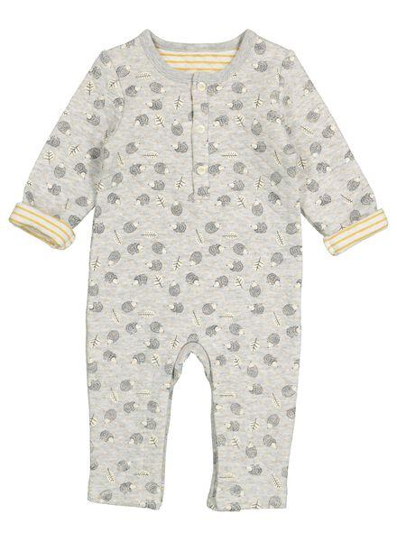 newborn baby jumpsuit grijs grijs - 1000016903 - HEMA