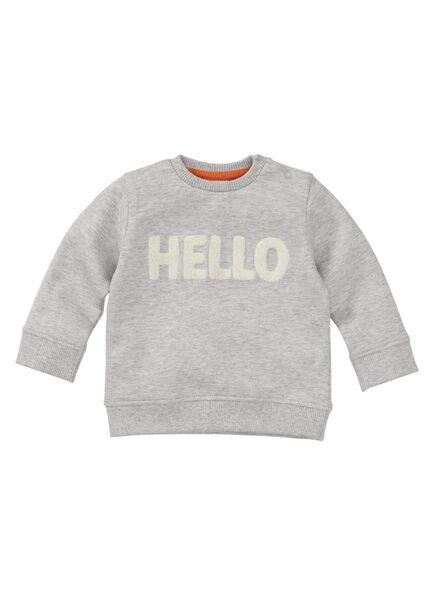 baby sweater grijsmelange grijsmelange - 1000008285 - HEMA