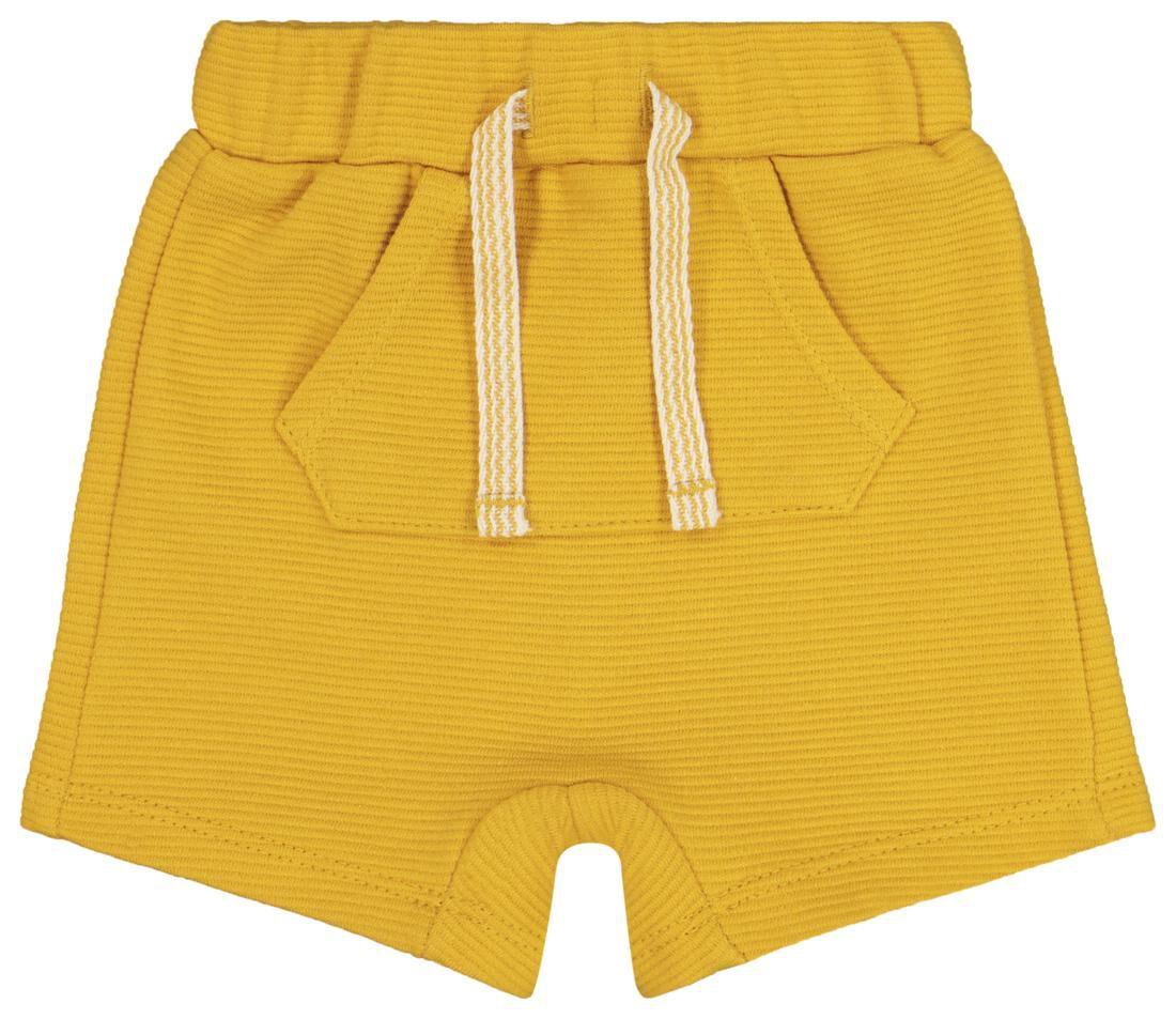 baby korte broek geel