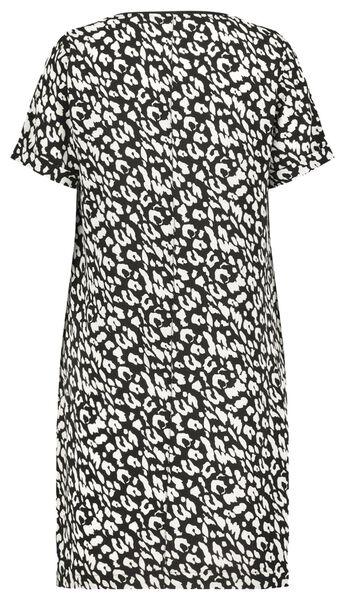 damesjurk animal recycled zwart - 1000022997 - HEMA