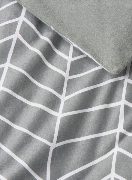 dekbedovertrek - flanel - 240 x 220 cm - grijs print - 5700012 - HEMA