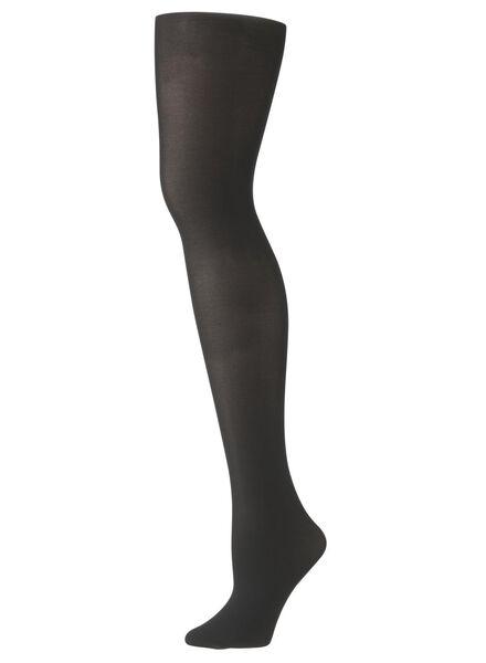 recycled panty opaque 60 denier zwart 44/46 - 4050278 - HEMA
