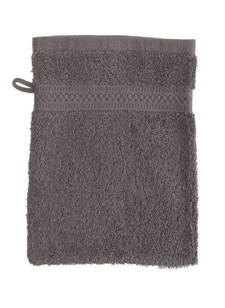 washand - zware kwaliteit - donkergrijs uni donkergrijs washandje - 5232602 - HEMA