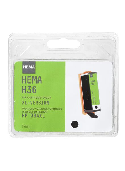 H38 vervangt HP 364 Black XL - 38390411 - HEMA